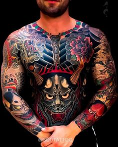 Japanese sleeve and front tattoos by can find irezumi a. Japanese Tattoos For Men, Japanese Tattoo Symbols, Japanese Dragon Tattoos, Japanese Tattoo Art, Traditional Japanese Tattoos, Japanese Tattoo Designs, Japanese Sleeve Tattoos, Japanese Style, Irezumi Tattoos
