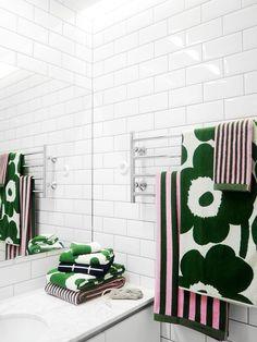Finnish Sauna, Marimekko Fabric, Grey Bathrooms, Bath Time, Bathroom Inspiration, Scandinavian Design, Finland, Digital Camera, Beautiful Homes