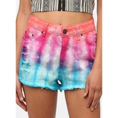 OU Tie Dye High Wasted Shorts UO tie dye high wasted shorts! Urban Outfitters Shorts