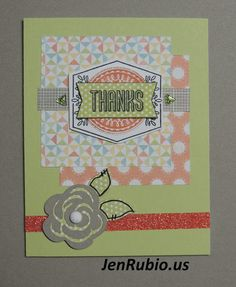 CTMH with Jen Rubio: August Stamp of the Month Blog Hop! (Framed S1508)