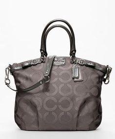Love love love!!! Coach Madison Op Art Jaquard Lindsey Satchel Handbag Bag Purse Tote 18645 Flint