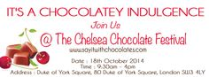 It's #ChocolateWeek! Join us at the Chelsea Chocolate Festival this Saturday for a chocolatey indulgence!