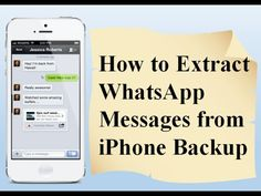Free Method to extract whatsapp messages from iphone backup