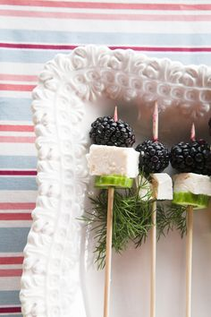 Simple Summer Appetizer- Blackberries, Feta, Cucumbers & Dill | The Roost Blog