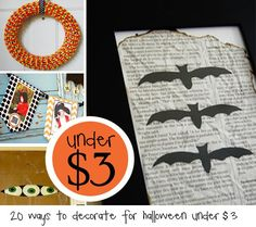 Keeping Halloween on the very cute creative site but staying on budget!  Items below are $3 and under….some are FREE.  Now there is not excuse to add a bit of spooky holiday spirit to your surroundings….   1.  Use electrical tape and googlie eyes to wrap around a juice box to make mummy drink …