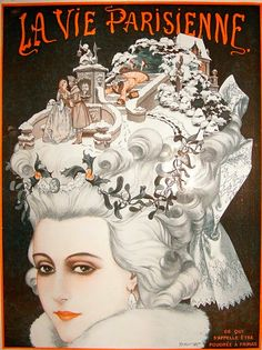 Cover Art for the December 1923 Christmas Issue of La Vie Parisienne  by Chéri Hérouard