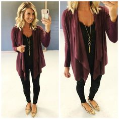 2018 Nordstrom Anniversary Sale Hits & Misses [Loves, Likes and Oh My's!] – … 2018 Nordstrom Anniversary Sale Hits & Misses [Loves, Likes and Oh My's!] – Living in Yellow Maroon Cardigan Outfit, Black Leggings Outfit, Legging Outfits, Cardigan Outfits, Black Jeans Outfit Work, Casual Work Outfits, Business Casual Outfits, Mom Outfits, Cute Outfits