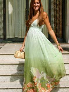 marianela406862 Outfit   Primavera 2012. Combinar Vestido Verde suave/Manzana/Té Traffic People, Cómo vestirse y combinar según marianela406862 el 11-4-2012