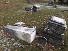 Yellow caution tape flapped in the wind, crisscrossing the entrance of a mausoleum erected nearly a hundred years ago. It's the latest sign of harm to Green Lawn Cemetery by vandals who have …