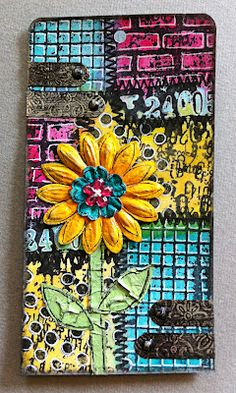Hanna's crafts: Lots of colour Atc Cards, Card Tags, Gift Tags, Art Journal Pages, Art Journals, Journal Ideas, Arts And Crafts, Paper Crafts, Artist Card