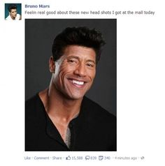 Bruno Mars and the Rock