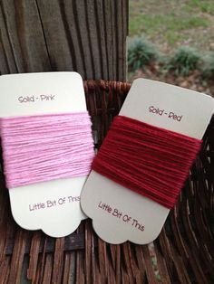 Solid Twine  5 Yards Red & 5 Yards Pink  10 Yards by erkline5898, $2.75