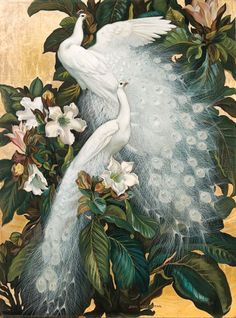 Cheap oil paintings birds, Buy Quality paintings bird directly from China white peacock Suppliers: Art large Oil painting birds white peacocks on flowers branch - canvas Peacock Painting, Peacock Art, Peacock Images, Painting Trees, Painting People, Spray Painting, Painting Art, Watercolor Painting, Paintings