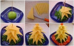 how to make edible christmas trees ideas yellow cheese