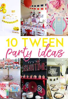 Plan your tween's birthday with one of these 10 Tween Party Ideas (like an party, glamping party and emoji party) on Love The Day by Lindi Haws. Preteen Birthday Parties, 12 Year Old Birthday Party Ideas, Sleepover Party, Birthday Party Themes, Tween Party Ideas, Teen Party Themes, Pamper Party, Birthday Celebrations, 11th Birthday