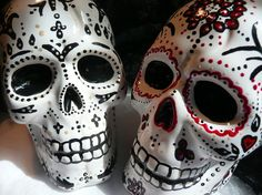 Day of the Dead Gothic Skull Cake Topper  Lrg by aphroditescanvas, $65.00