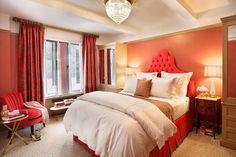 Pink bedroom by designer Jennifer Flanders