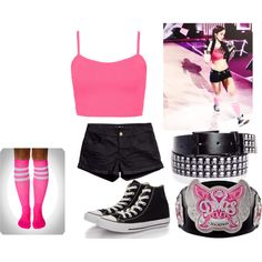 AJ Lee inspired outfit