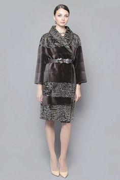 Persian Lamb and Sheared Mink Fur Coat
