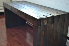 Building a dining bench with 2x4s and wood glue