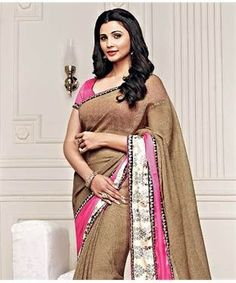 Jute and Satin Saree with Blouse   I found an amazing deal at fashionandyou.com and I bet you'll love it too. Check it out!