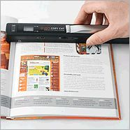 This would be so cool to have....instead of tearing out all of those articles and recipes in magazines, I could just scan them!!