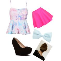 A Night On The Town by purplesparkle6502 on Polyvore featuring polyvore fashion style UNIF