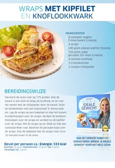 Chicken wraps with a garlic kwark sauce- Sonja Bakker