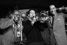 Louis Armstrong, Paul Newman and Duke Ellington by Herman Leonard, Paris, 1960