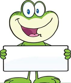 Illustration of Cute Frog Cartoon Mascot Character Holding A Banner Illustration Isolated on white vector art, clipart and stock vectors. Page Borders, Borders And Frames, Frog Theme, Frog Crafts, Cute Frogs, Cute Clipart, Classroom Themes, Illustration, Coloring Pages