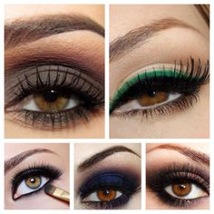 Eyeshadow for brown eyes ♥ beauty beautiful cute pretty sexy hot classy fashion modern diy simple color season style cool dress outfit clothes hair makeup real women plus curvy figured shoes pants♥