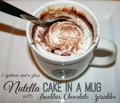 Nutella Cake in a Mug w/ Delicious Star Butter Olive Oil Instead of Butter #StarOliveOil #shop