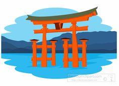 Asia : Itsukushima-Shrine-Miyajima-Japan-Asia-Clipart : Classroom Clipart