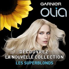 Testez Olia Collection les SuperBlonds de Garnier En savoir plus sur http://www.beaute-test.com/service/test-produit-garnier-olia-coloration-decoloration-permanente-superblonds.php#dSzHzmS0p4j4ubIZ.99