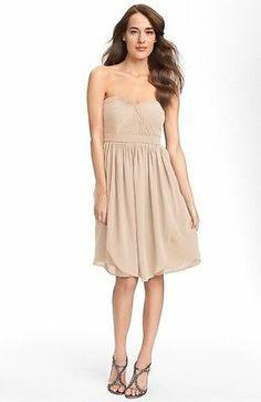$265 Jenny Yoo 'Keira' from Nordstrom Convertible Chiffon Dress Sz: 8 Champagne