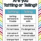 Do your students struggle with whether they should tell you about something that happened on the playground?  Are they tattling nonstop?  Use these...