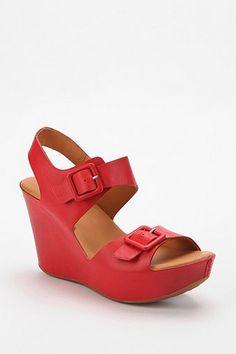86905e338ca Kork-Ease Susie Leather Platform Wedge Sandal