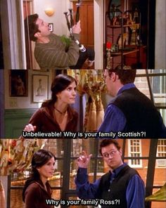 This is my absolute favourite scene (well, two scenes) from Friends