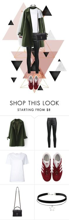 """""""Egdy Girl"""" by jz20 ❤ liked on Polyvore featuring Veronica Beard, Astraet, adidas, Yves Saint Laurent and Tory Burch"""