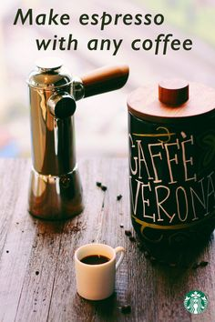 Any coffee bean can be brewed as espresso—a few we love are Caffe Verona, Guatemala Casi Cielo, Guatemala Antigua, and Gold Coast Blend. As espresso, they have the same flavor profile, just more concentrated.