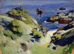 """Monhegan Landscape,"" Edward Hopper. (1882 - 1967), c. 1916–1919, Oil on board, 12 x 16 1/4"", Herbert F. Johnson Museum of Art, Cornell University."