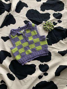 Beginner Crochet Projects, Knitting Projects, Knitting Patterns, Crochet Patterns, Diy Crochet Top, Cute Crochet, Knit Crochet, Crochet Clothes, Diy Clothes