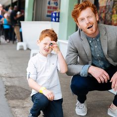 Wade Holter: Tearing apart with mini me. Ginger Head, Ginger Boy, Blonde Redhead, Redhead Men, Beautiful Red Hair, Slim Fit Chinos, Mini Me, Good Looking Men, Male Models