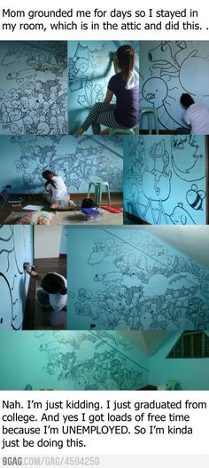 The most awesome Adventure Time drawing EVER! This girl deserves an award The Meta Picture, Jake The Dogs, Bubbline, Wow Art, Claude Monet, My New Room, Artsy Fartsy, Amazing Art, Street Art