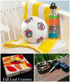 Soccer ball,key chain, and books