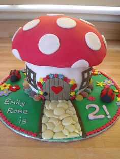 Toadstool cake for littlest Dotty's 2nd birthday x