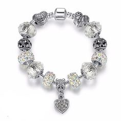 Luxury brand women bracelet silver plated