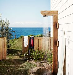 Outdoor shower with a view x x x