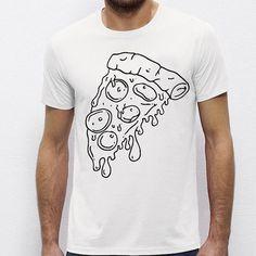 Pizza Slice   Quote Slogan Illustration Personalised Unisex, Tumblr, Blog Fashion Drawing Funny, Hipster, Joke, Gift, Tee, T-Shirt, Top Men Women Ladies Boy Girl