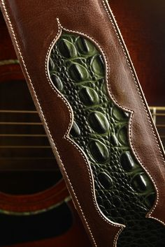 Ethos Custom Brands - Evergreen Guitar Strap Guitar Straps - Hand-crafted Leather Products